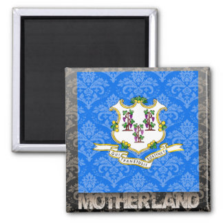 My Motherland Connecticut 2 Inch Square Magnet