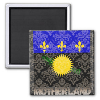 My Motherland Guadeloupe 2 Inch Square Magnet