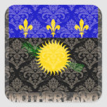 My Motherland Guadeloupe Square Stickers