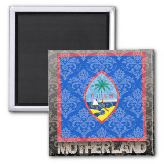 My Motherland Guam 2 Inch Square Magnet