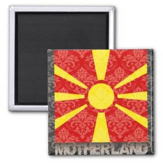 My Motherland Macedonia 2 Inch Square Magnet