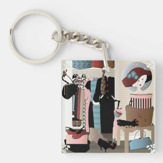 My Mother's Closet Single-Sided Square Acrylic Keychain