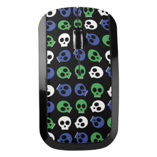 My Mouse Has Blue and Green Skulls Wireless Mouse