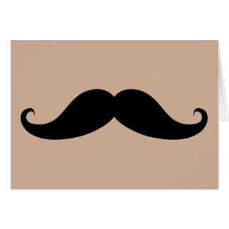 My Moustache Greeting Card
