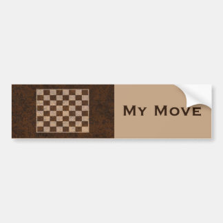 My Move - Funny Bumper Sticker For a Chess Player