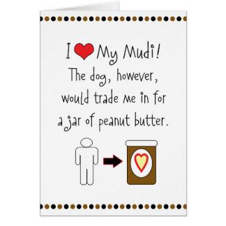 My Mudi Loves Peanut Butter Greeting Card