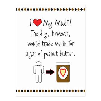 My Mudi Loves Peanut Butter Postcard