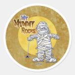 My mummy rocks round sticker