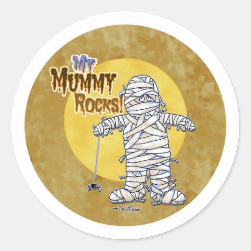 My mummy rocks round stickers