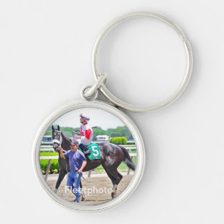 My Music Gal wins at Belmont Park Silver-Colored Round Keychain