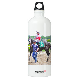 My Music Gal wins at Belmont Park Water Bottle