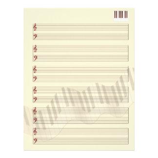 My Music Manuscript Personalized Letterhead