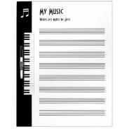 My Music - Musicians Impromptu Music Board (large) at Zazzle
