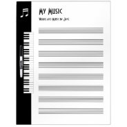My Music - Musicians Impromptu Music Board (Large) Dry Erase Whiteboard at Zazzle