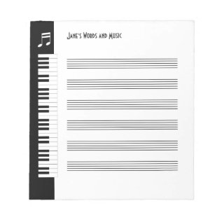 My Music - Musicians Impromptu Notepad (s) at Zazzle