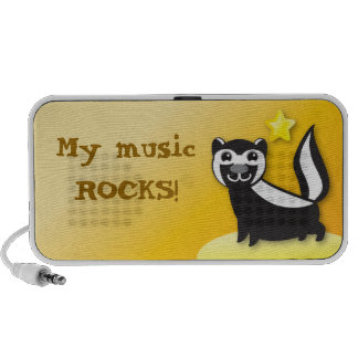 My music rocks! Skunk with star speakers