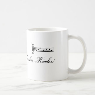 My Music Teacher Rocks Coffee Mug