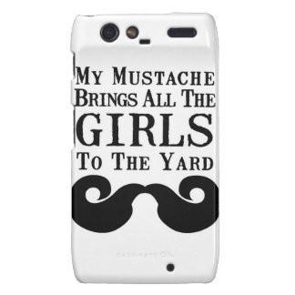 My Mustache Brings All the Girls to the Yard Motorola Droid RAZR Covers