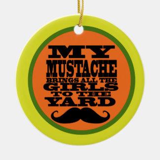My Mustache Ceramic Ornament