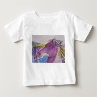 My Mustang Portrait in Pastels Baby T-Shirt