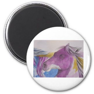 My Mustang Portrait in Pastels Magnet