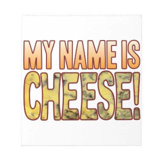 My Name Blue Cheese Notepad