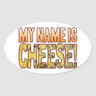 My Name Blue Cheese Oval Sticker