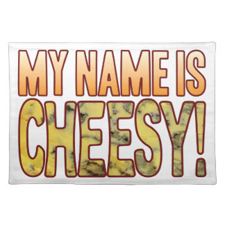 My Name Blue Cheesy Cloth Placemat