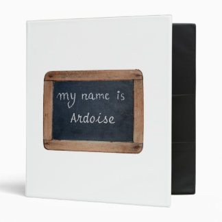 My name is Add your Name Personalized White Binder