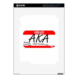 My name is AKA iPad 3 Decal