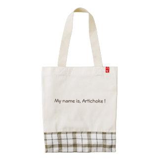 My name is, Artichoke ! Zazzle HEART Tote Bag