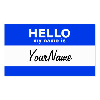 Hello my name is business cards templates zazzle for My business card