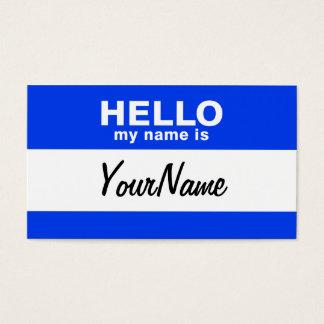 My Name Is Blue Custom Nametag Business Card