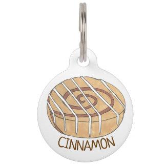 My Name Is Cinnamon Breakfast Roll Bun Frosting Pet ID Tag