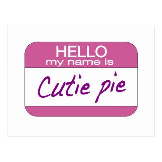 My Name is Cutie Pie Postcards