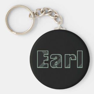 My name is Earl Basic Round Button Keychain