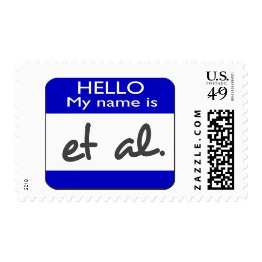 My name is et al postage