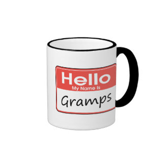 My Name is Gramps Ringer Mug
