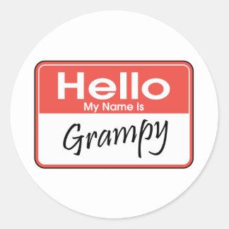 My Name is Grampy Classic Round Sticker