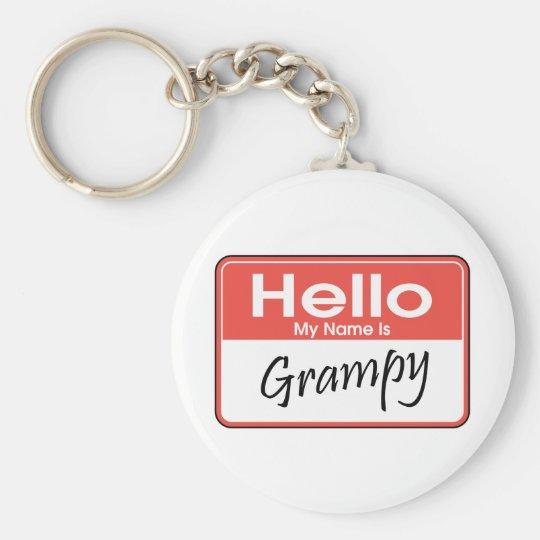 My Name is Grampy Keychain