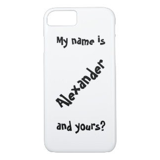 my name is iPhone 8/7 case