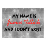 "My Name Is James Tillich 5"" X 7"" Invitation Card"