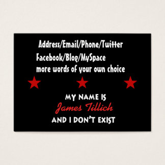 My Name Is James Tillich Business Card