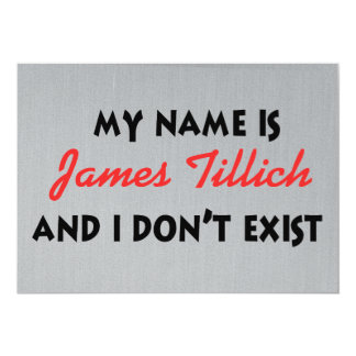 My Name Is James Tillich Card