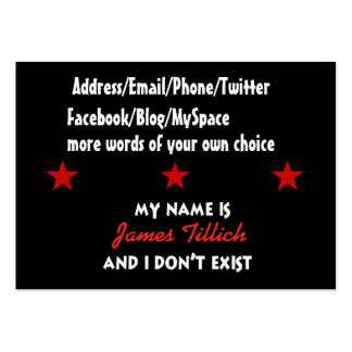 My Name Is James Tillich Large Business Card