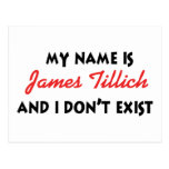 My Name Is James Tillich Postcard