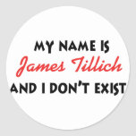 My Name Is James Tillich Stickers