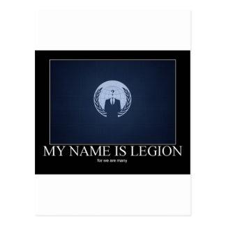 My Name Is legion Postcard