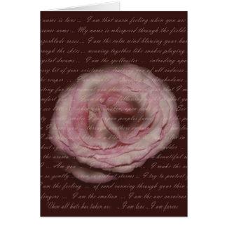 """My name is love"" Floral Poetry Greeting Card"
