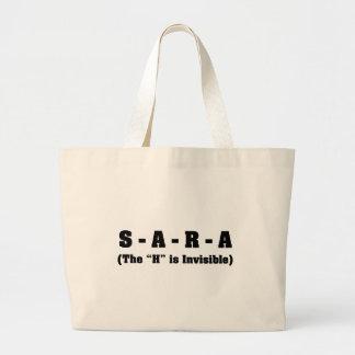 My name is Sara not Sarah Large Tote Bag